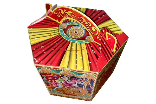 Картонная упаковка для подарков Веселая Карусель