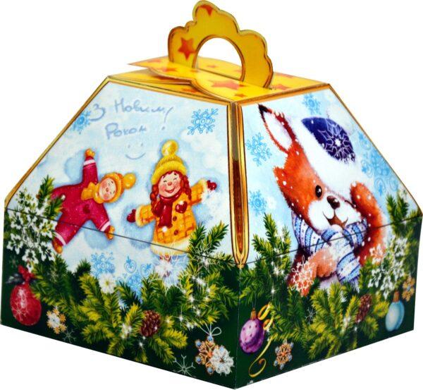 упаковка из картона для новогодних подарков 300-400г