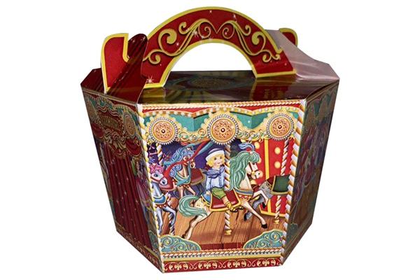 Большая картонная упаковка для подарков Карусель фото